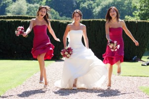 Bride and Bridesmaids at St Audries Park
