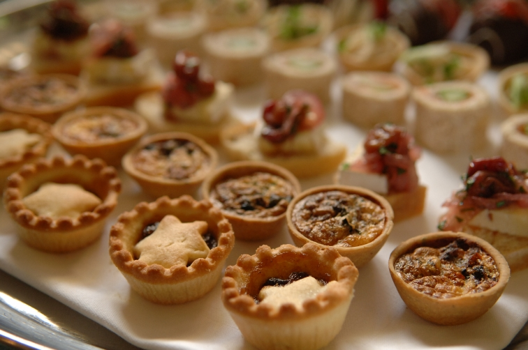 Christmas Canapes at St Audries Park