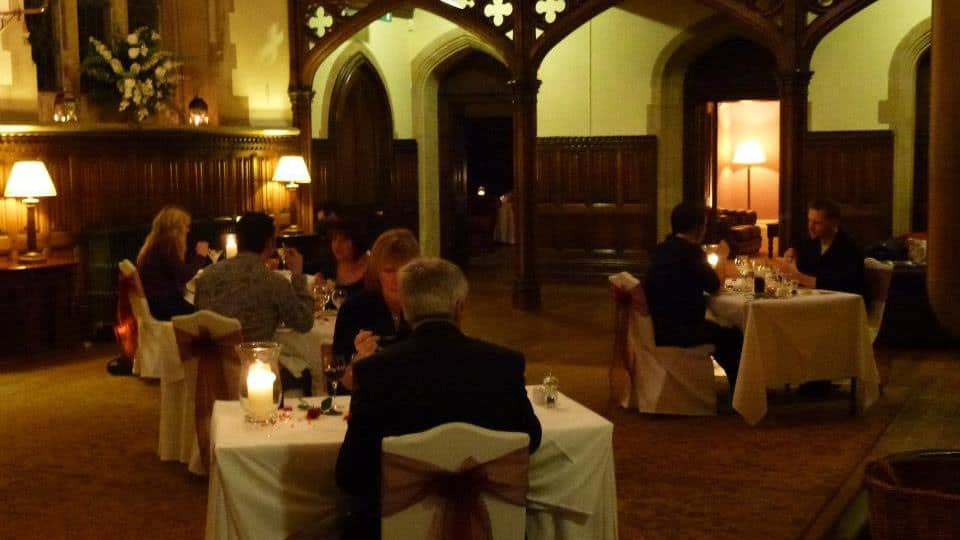 St Audries Park Valentine Dinner Great Hall