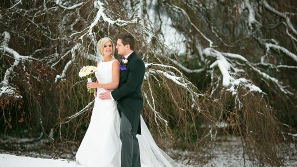 St Audries Park - Couple in the snow