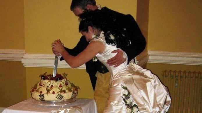 St Audries Park - Victorian wedding - Pavlova cake