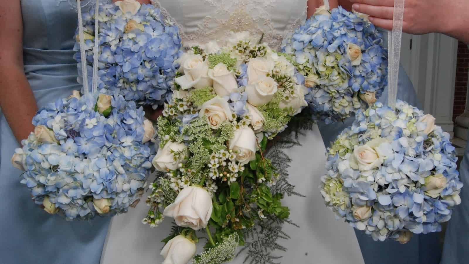 All the hydrangea bouquets