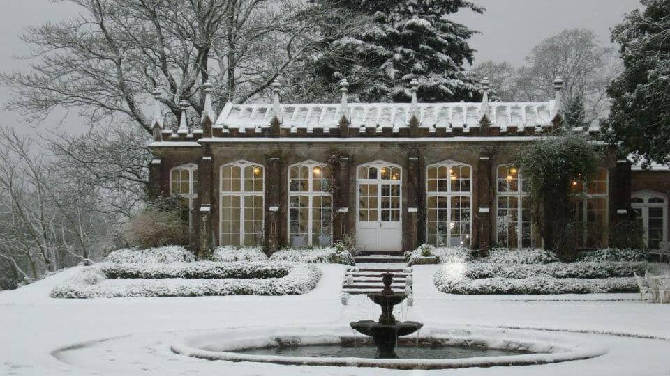 St Audries Park - Orangery in the snow