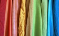 Brightly coloured material