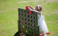 Child playing at wedding