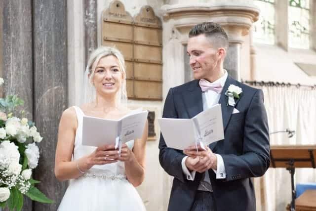 rosie daniels hyms at wedding